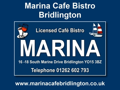 Marina Cafe Bistro Bridlington Website built by Love Bridlington